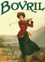 Bovril 'Lady Golfer' Metal Wall Sign (3 sizes)